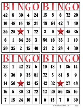 Multiplication Bingo - 3rd Grade