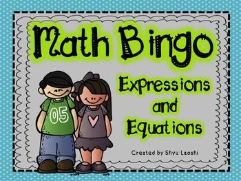 Math Bingo - Algebra