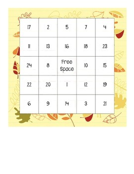 Math Bingo Boards