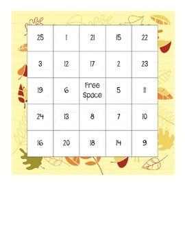 Math Bingo Boards