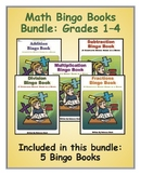 Math Bingo Books Bundle: Grades 1 to 4