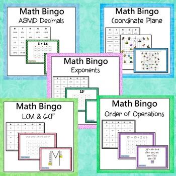 Math Bingo Bundle