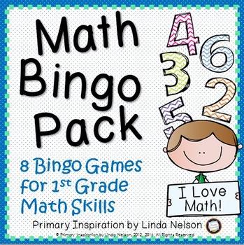First Grade Math Bingo