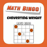 Math Bingo - Converting Customary Weight - Measurement Conversion