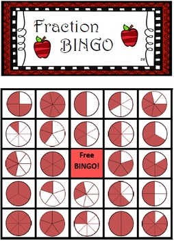 Fraction and Time Bingo! - Math Bingo  (2 sets of 36x sheets)