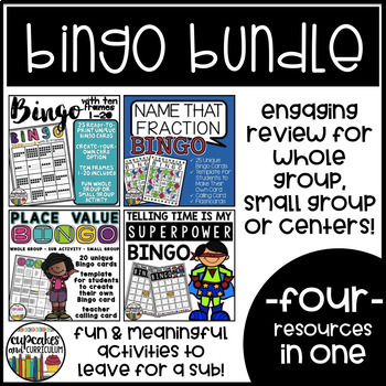 Math Bingo Game Bundle