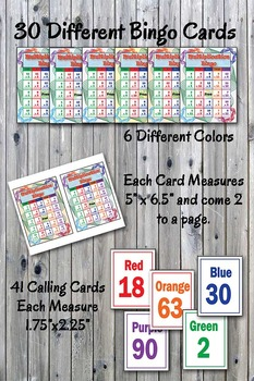 Math Bingo Game - Multiplication Facts 0 to 12 - Printable - Up to 30 players