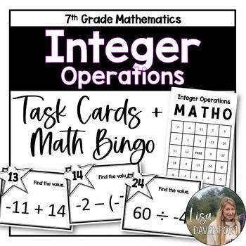 MATHO (Math Bingo)- Integers