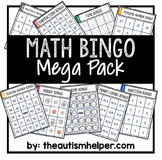 Math Bingo Mega Pack
