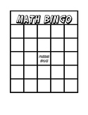 Math Bingo Multiplication Addition 1 through 30