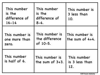 Math Bingo Numbers 1-25