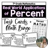 Math Bingo- Real World Applications of Percent