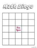Math Bingo Template