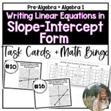 Writing Linear Equations in Slope-Intercept Form (MATHO or Task Cards)