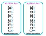 Math Bins Choice Cards