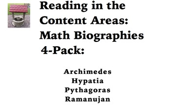 Reading in the Content Areas: Math Biographies 4-pack