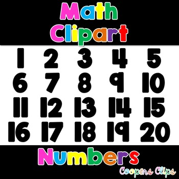 Math:Black Filled Numbers Clipart