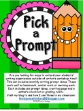 Pick A Prompt: Monthly Writing Prompt Ideas with Writing Paper and Rubric