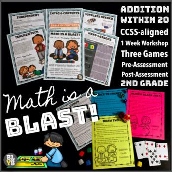 """Math Blast Skill 1: Add Fluently Within 20"" 1 Week Complete Math Workshop"