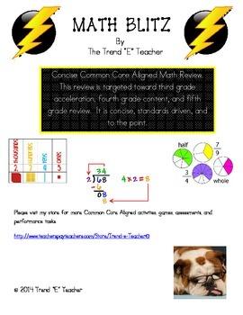 Math Blitz Review (Common Core Aligned