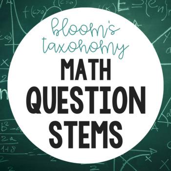 Bloom's Question Stems (Math)
