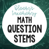 Bloom's Question Stems (Math)