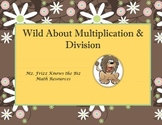 Wild About Multiplication & Division Board Game for 4th Grade