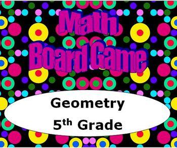 Math Board Game 5th Grade - Geometry (5.G)