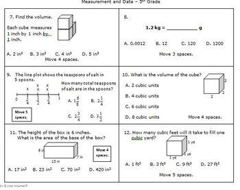 Math Board Game 5th Grade - Measurement and Data (5.MD)