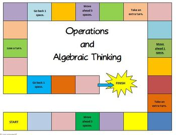 Math Board Game 5th Grade - Operations and Algebraic Thinking (5.OA)