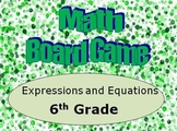 Math Board Game 6th Grade - Expressions and Equations (6.EE)