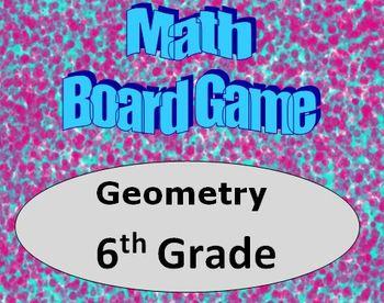 Math Board Game 6th Grade - Geometry (6.G)