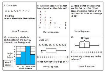 math board game 6th grade statistics and probability 6 sp by hilda ratliff. Black Bedroom Furniture Sets. Home Design Ideas
