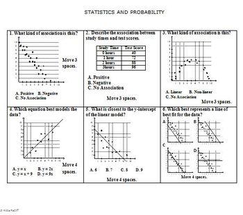 math board game 8th grade statistics and probability 8 sp by hilda ratliff. Black Bedroom Furniture Sets. Home Design Ideas