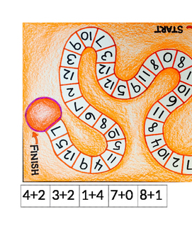 Math Board Game - Addition, Subtraction