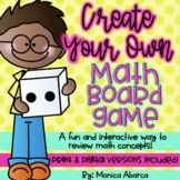Create Your Own Math Board Game   Distance Learning
