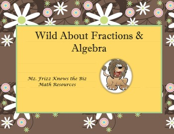 Wild About Fractions & Algebra Board Game for Upper Elementary