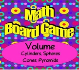 Math Board Game - Geometry - Volume - Sphere, Cylinder, Cone, Pyramid