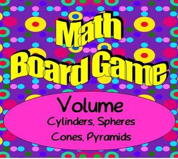 Math Board Game - Geometry - Volume - Sphere, Cylinder, Co