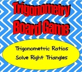 Math Board Game - Trigonometry - Trigonometric Ratios and Solve Right Triangles