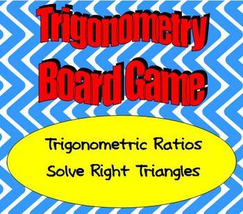 Math Board Game - Trigonometry - Trigonometric Ratios and Solve Right Triangles