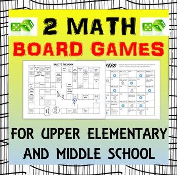 Math Board Games: 2 Math Board Games for upper elementary