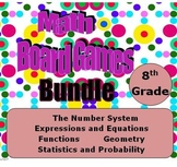 Math Board Games Bundle - 8th Grade (8.NS, 8.EE, 8.F, 8.G, 8.SP)