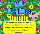 Math Board Games Bundle 5th Grade (5.OA, 5.NBT, 5.NF, 5.MD, 5.G)