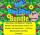 Math Board Games Bundle 5th Grade (5.OA, 5.NBT, 5.NF, 5.MD, 5.G)