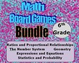 Math Board Games Bundle - 6th Grade - (6.RP) (6.NS) (6.EE) (6.G) (6.SP)