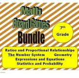 Math Board Games Bundle 7th Grade - (7.RP, 7.NS, 7.EE, 7.G, 7.SP)