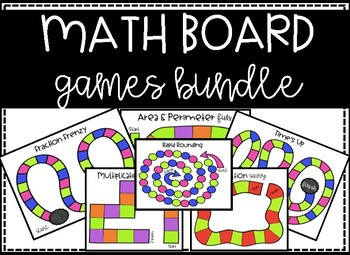 Math Board Games - Math Centers GROWING BUNDLE!