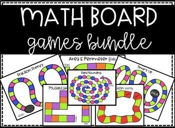 Math Board Games - Math Centers GROWING BUNDLE!