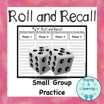 Math Board Games: Roll and Recall